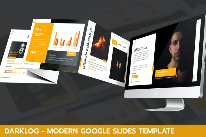 Thumbnail for Darklog - Modern Google Slides Template