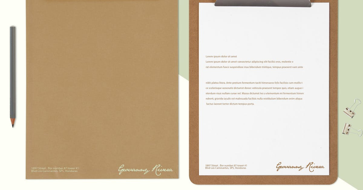 Download Multi Purpose Letterhead Mock Up by RetroBox