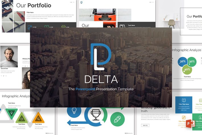 Thumbnail for Delta - Powerpoint Template