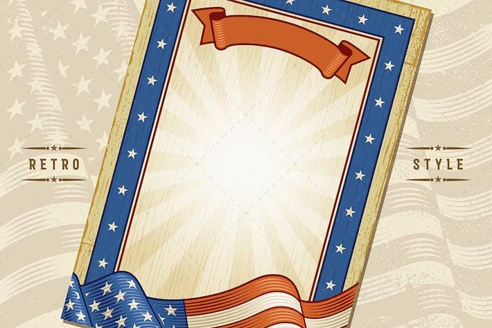 Thumbnail for Amerikanischer Vintage-Rahmen