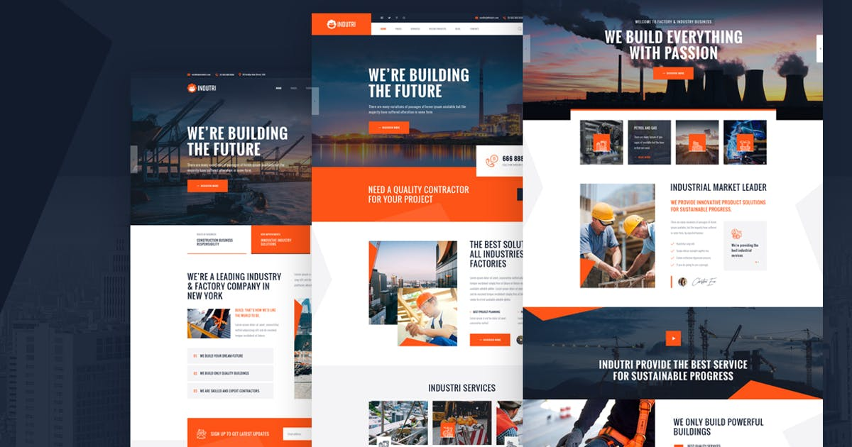 Download Indutri - HTML For Industry & Factory Business by Layerdrops