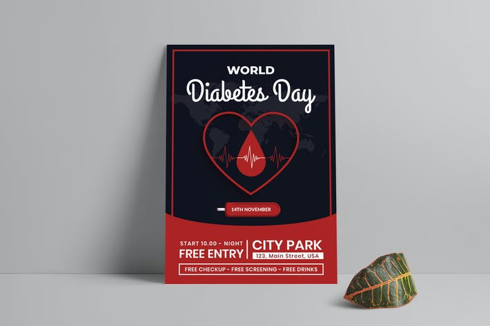 Thumbnail for World Diabetes Day Flyer Template