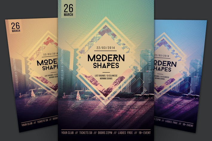 Cover Image For Modern Shapes Flyer