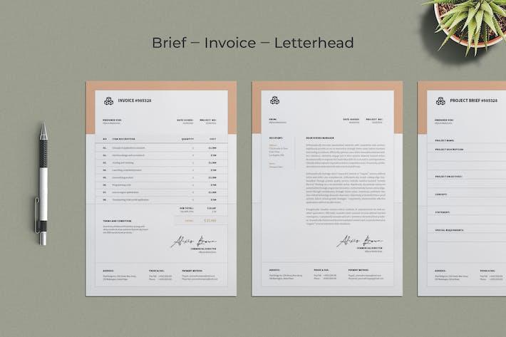 Thumbnail for Invoice Letterhead Brief