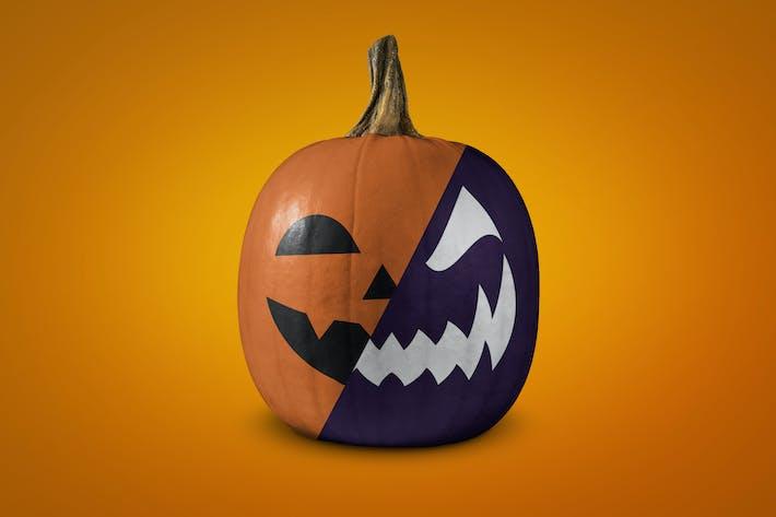 Thumbnail for Halloween pumpkin mockup