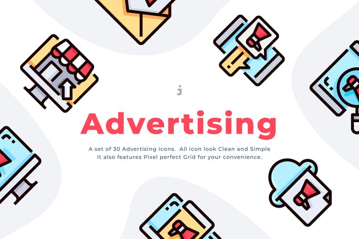 Thumbnail for 30 Advertising Icon set