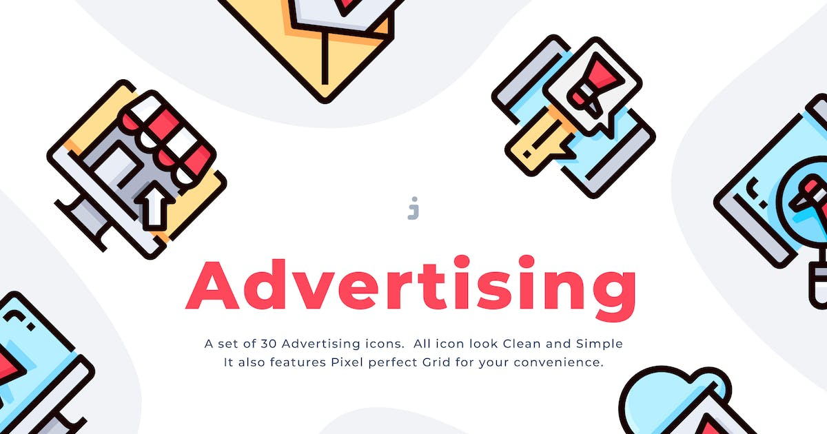 Download 30 Advertising Icon set by Justicon