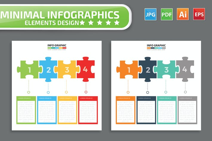Thumbnail for Puzzle Infographic Design