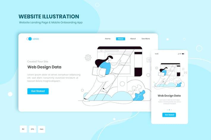 Thumbnail for Web Design Data Illustration