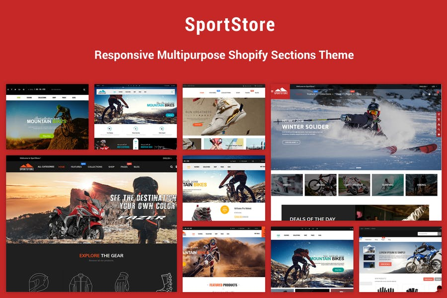 SportStore - Multipurpose Sections Shopify Theme - product preview 0