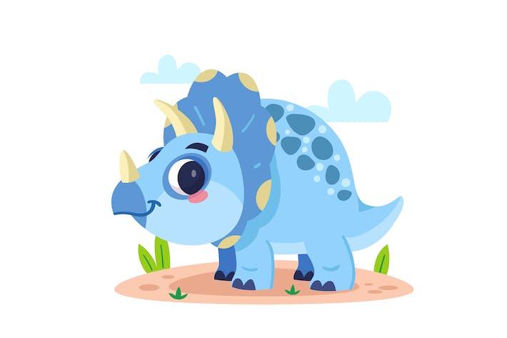 Cartoon Baby Triceratops