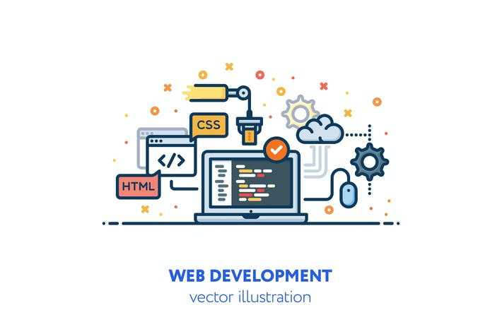 Thumbnail for Web development illustration