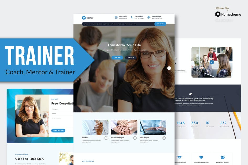 Download Trainer - Trainer, Mentor and Coach MUSE Template by Rometheme