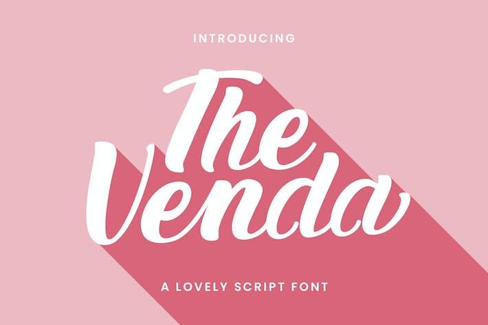 Thumbnail for The Venda Lovely Script Font