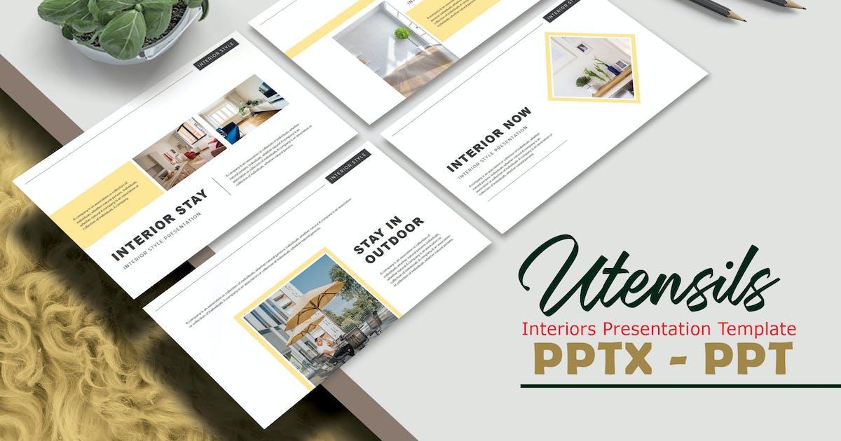 Download UTENSILS - Interiors Powerpoint Template by joelmaker