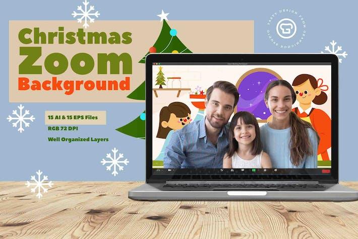 Thumbnail for Weihnachts-Zoom-HintergrundVorlage