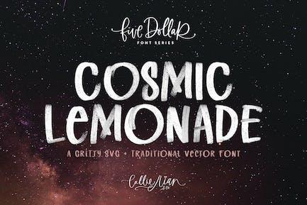 Cosmic Lemonade SVG + Vector Font