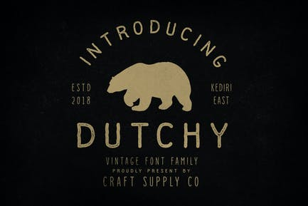 Dutchy - Vintage Type Family