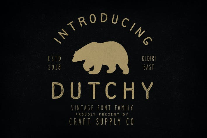 Thumbnail for Dutchy - Vintage Type Family