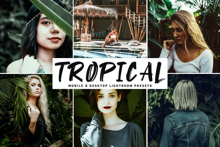 Thumbnail for Tropical Mobile & Desktop Lightroom Presets