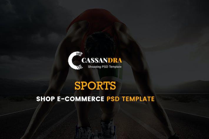Thumbnail for Cassandra - Sports Shop e-commerce PSD Template