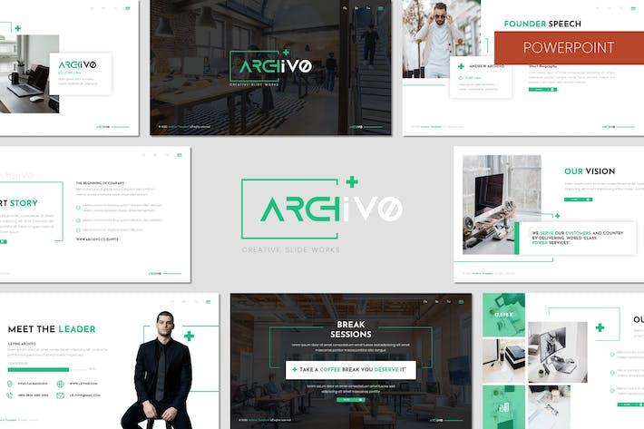 Archivo - Бизнес-Powerpoint Шаблон