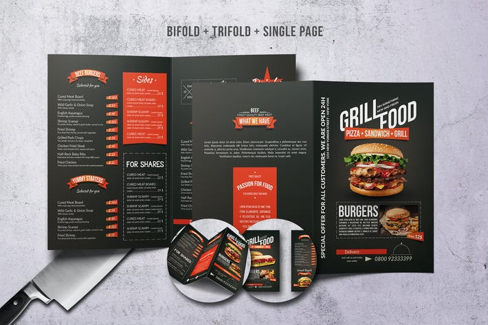 Thumbnail for Grill BBQ Menu Bundle