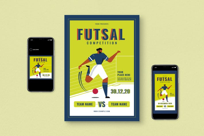 Thumbnail for Futsal Competition Flyer Set