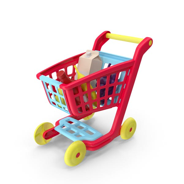 Children Shopping Cart with Grocery Food Toy