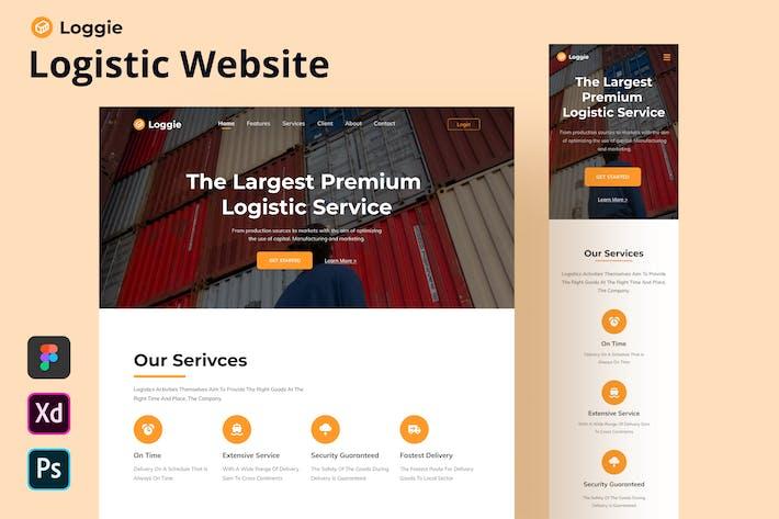 Loggie - Logistic Website Homepage