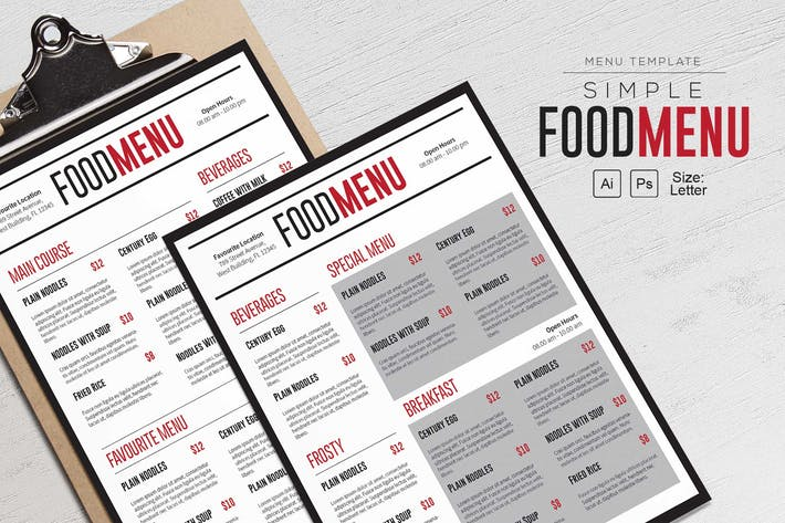 Thumbnail for Menu alimentaire simple