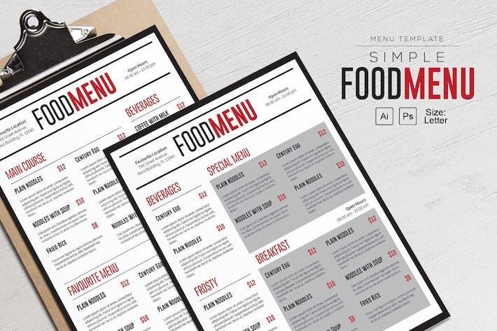 Thumbnail for Simple FoodMenu