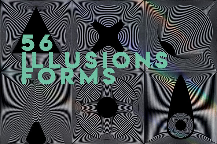 Thumbnail for 56 illusions forms abstract. Surrealistic optical