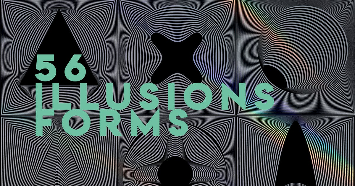 Download 56 illusions forms abstract. Surrealistic optical by a_slowik