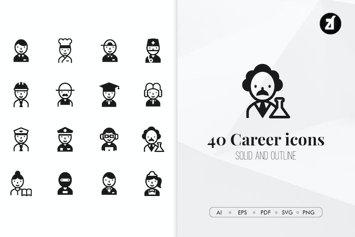 Thumbnail for 40 Career minimal icons