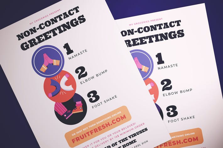 Thumbnail for Non Contact Greeting Flyer