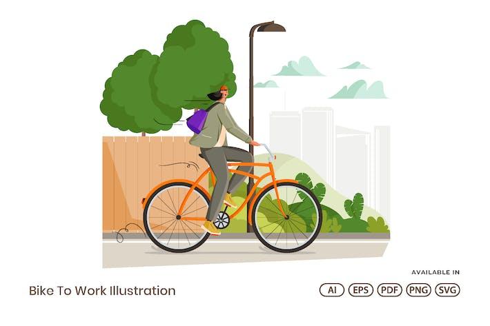 Thumbnail for Bike To Work Illustration