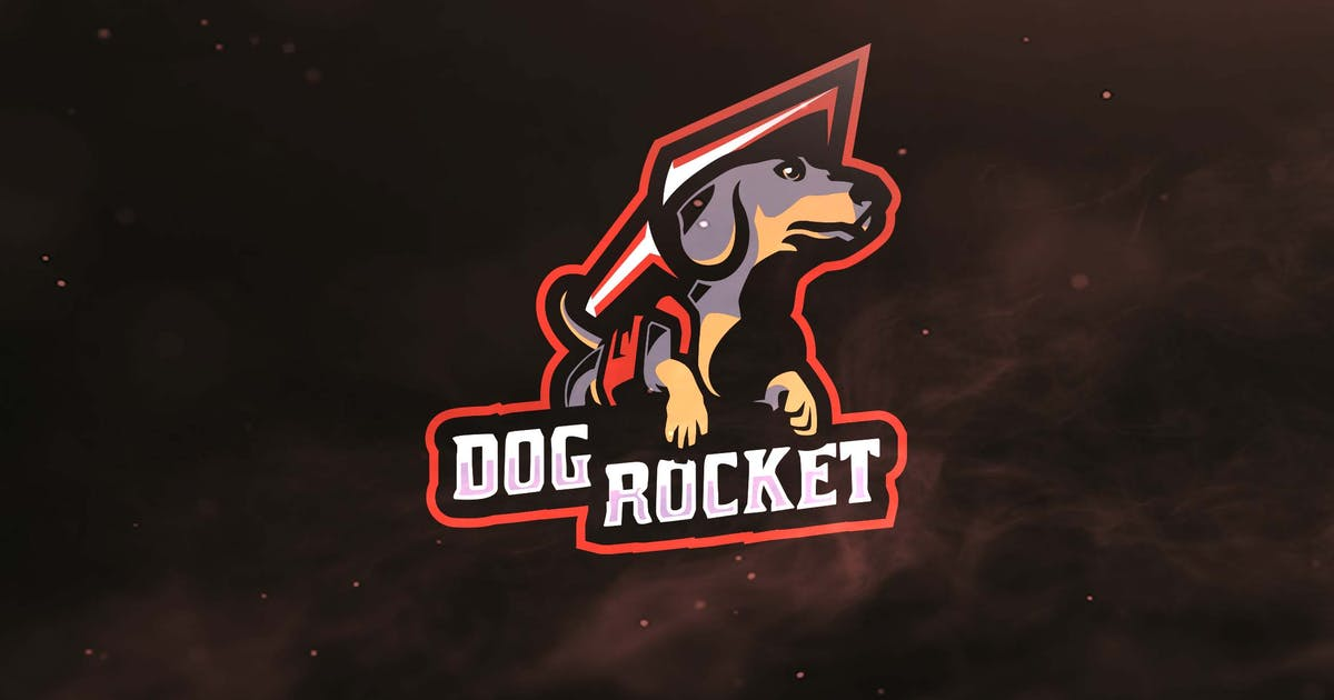Download Dog Rocket Sport and Esports Logos by ovozdigital