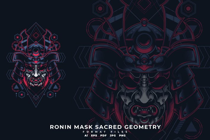 Thumbnail for Ronin Mask Sacred Geometry