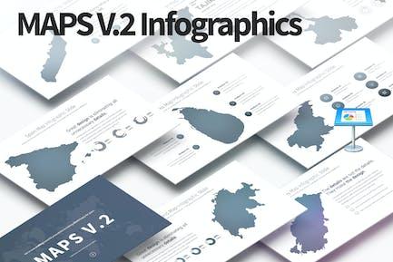 MAPS V.2 - Keynote Infographics Slides