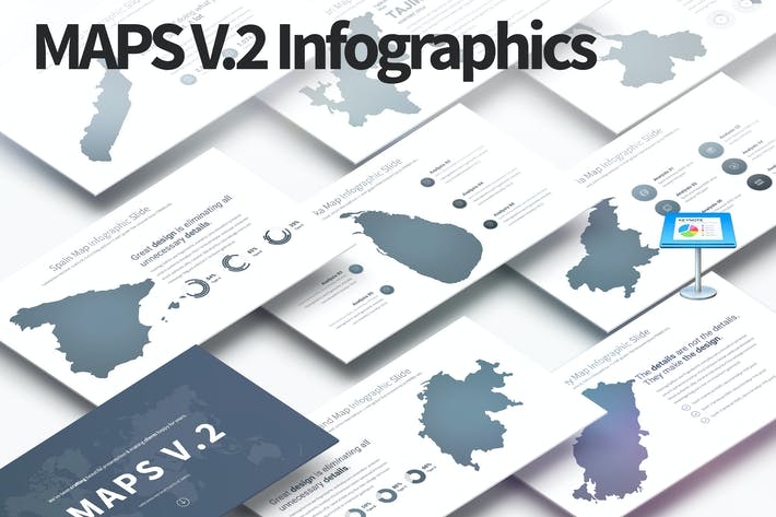 Thumbnail for MAPS V.2 - Keynote Infographics Slides