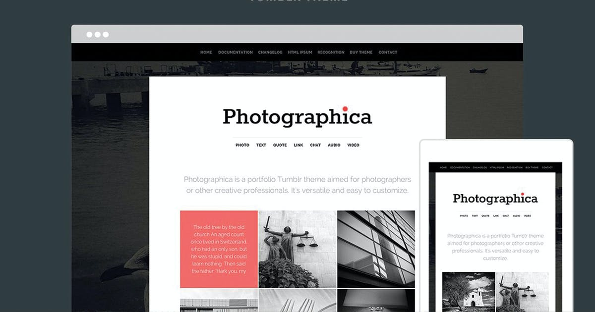 Download Photographica Tumblr Theme by themelantic