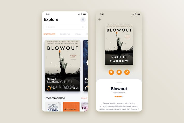 Thumbnail for Book Store mobile app concept