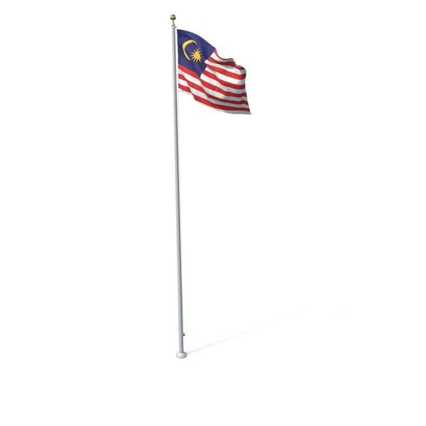 Flagge auf Pole Malaysia
