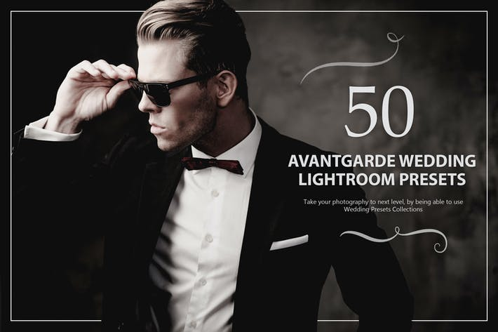 Thumbnail for 50 Avantgarde Wedding Lightroom Presets