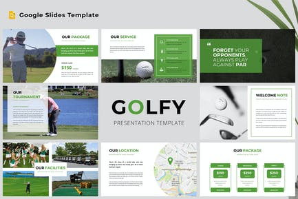 Golfy Google Slides Presentation Template