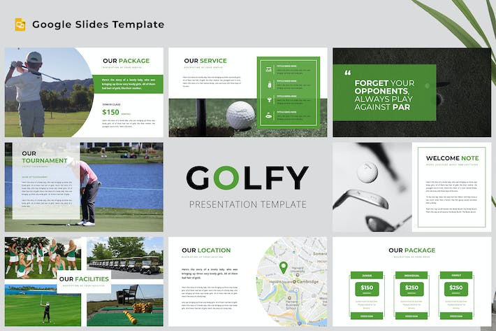 Cover Image For Golfy Google Slides Presentation Template