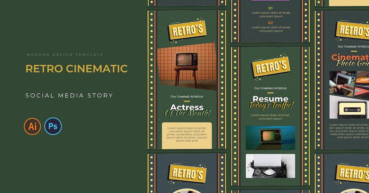 Download Retro Cinematic Instagram Story by karkunstudio