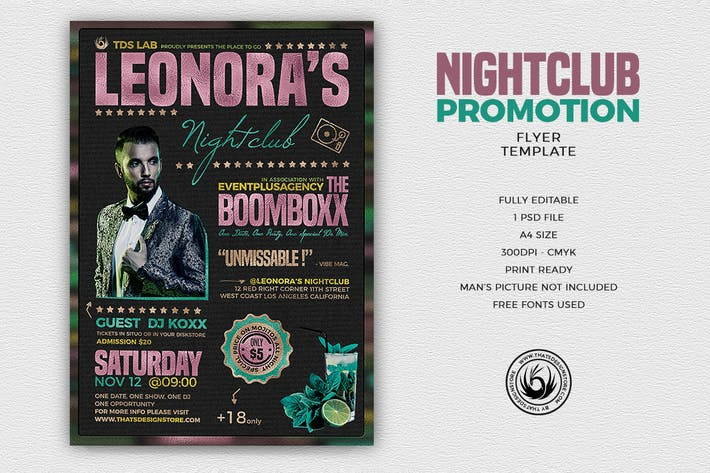 Thumbnail for Nightclub Promotion Flyer Template