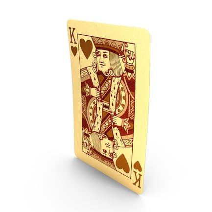 Goldene Spielkarten König der Herzen
